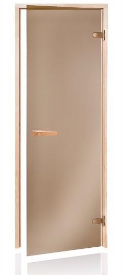 Andres Raiser 68S saunové dveře do sauny celoskleněné bronz